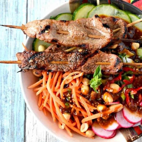 Satay Beef Noodle Bowl