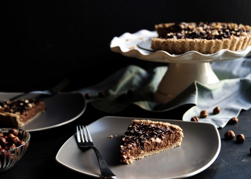 Vegan Chocolate-Hazelnut Tart