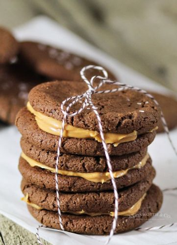Nutella and Peanut Butter Sandwich Cookies
