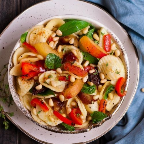 Apricot Date Pasta Salad