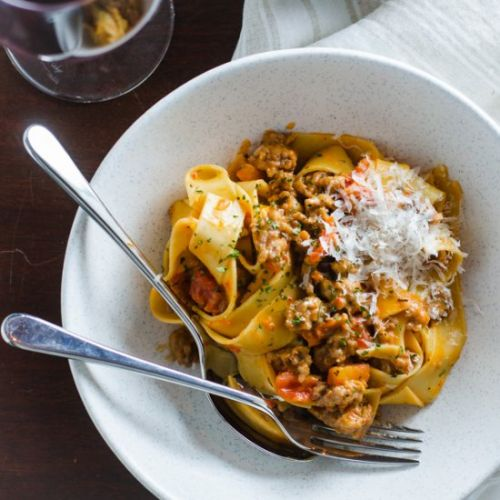 Spicy Sausage Pappardelle