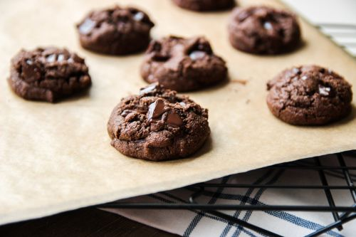 Paleo Double Chocolate Chunk Cookies