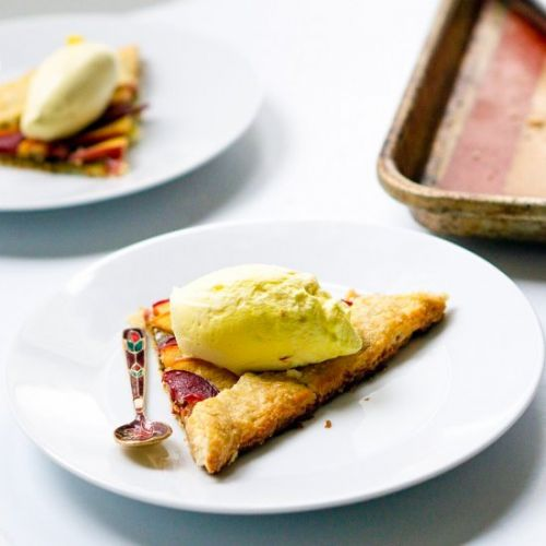 Galette with Saffron Whipped Cream