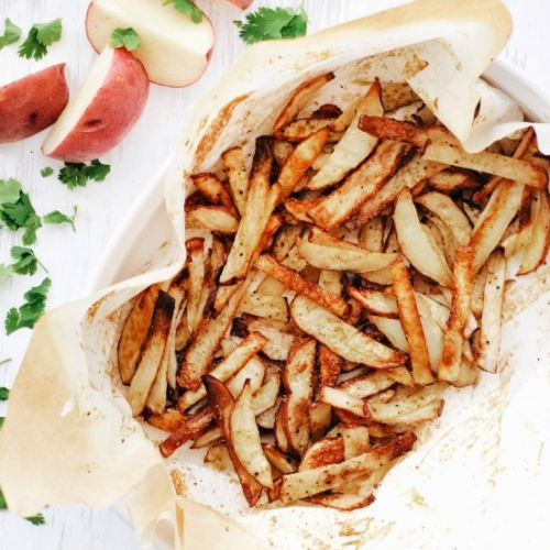 Oven Baked Salt and Vinegar Fries