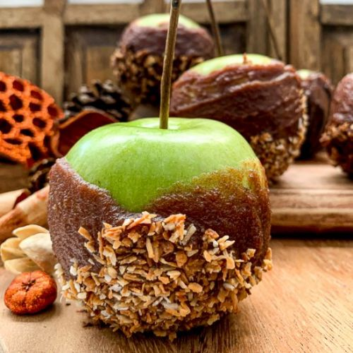Date Caramel Apples 3 ways