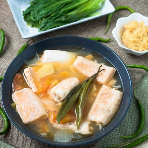 SINIGANG SALMON BELLY