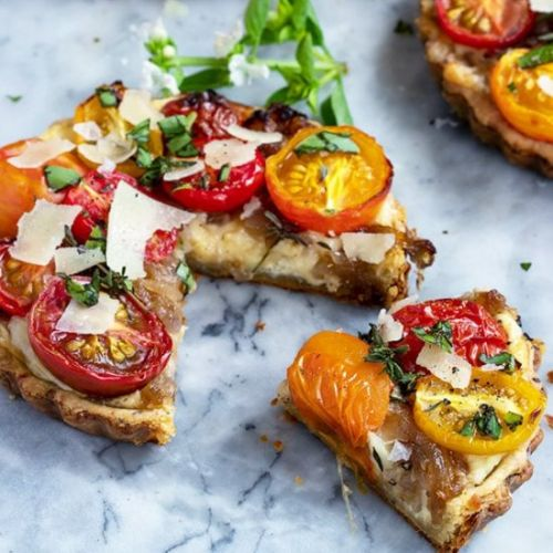 Cheese Tart with Tomatoes & Herbs