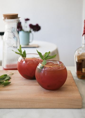 Chilling with Watermelon Bourbon Cocktail