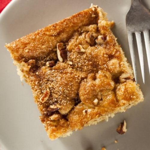 Vegan Peach Coffee Cake