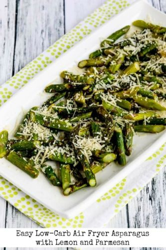 Easy Low-Carb Air Fryer Asparagus with Lemon and Parmesan