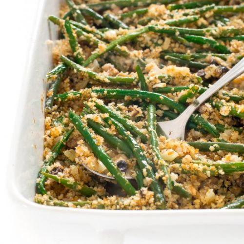 Lightened up Green Bean Casserole