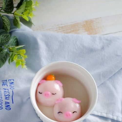 Cute Piggie Sweet Rice Dumplings
