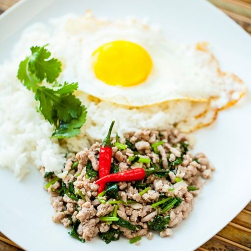 THAI STYLE GROUND PORK