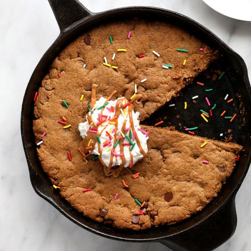 Flourless Peanut Butter Skillet Cookie