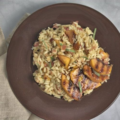 Roasted Peach Risotto