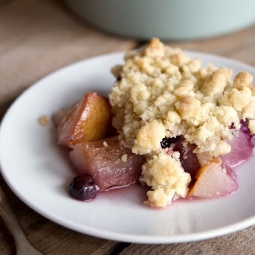 Pear Blueberry Crumble