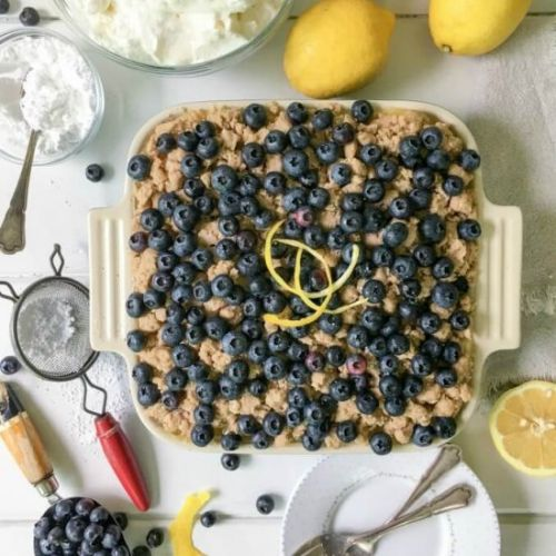 Blueberry Lemon No Bake Cheescake