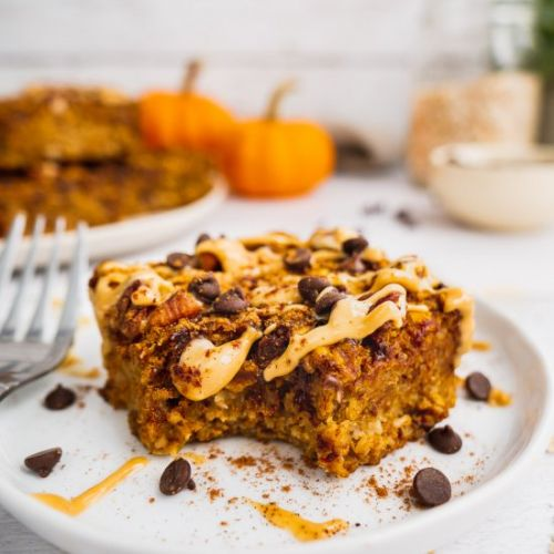 Healthy Pumpkin oatmeal Bars