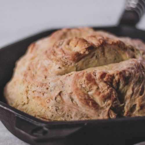 Vegan cast iron skillet bread