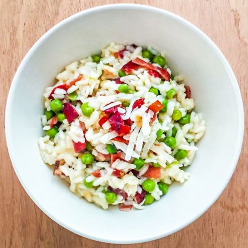 Risotto with Smoked Ham and Peas