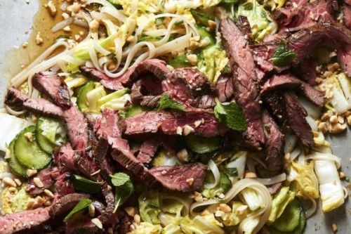 Rice Noodle Salad with Steak