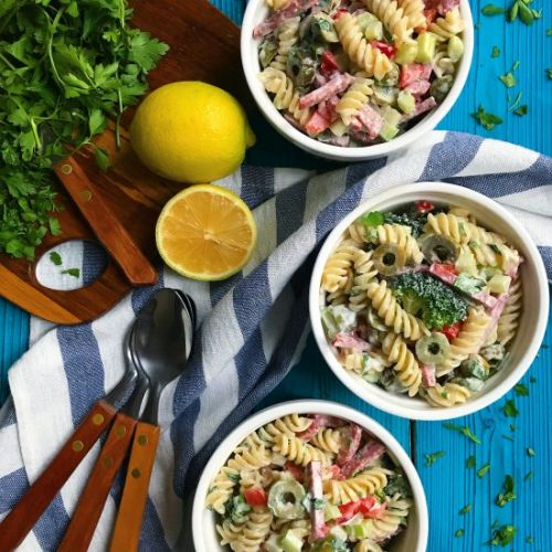 Pasta Salad with Lemon Sauce
