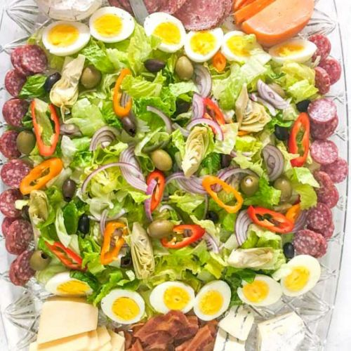 Large Salad & Cheese Platter
