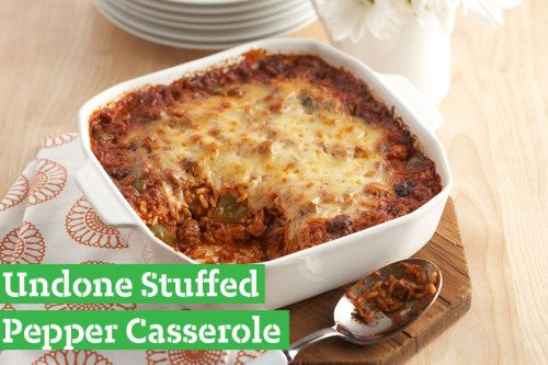 Saucy, cheesy, and beefy, this casserole is one delicious