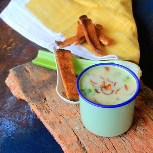Potato celery soup