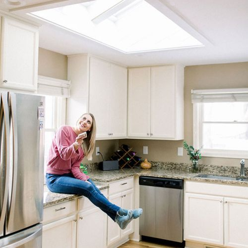 Let there be Light - Fit Foodie Kitchen VELUX Skylight Reveal!