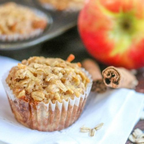 Low Fat Apple Oatmeal Muffins
