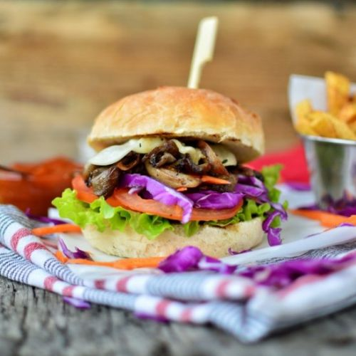 Pulled Mushrooms Burger