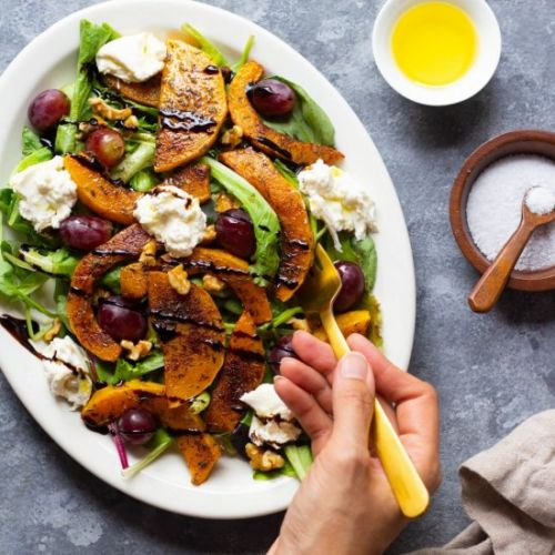 ROASTED BUTTERNUT SQUASH SALAD WITH