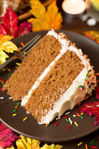 Autumn Spice Cake with Cream Cheese Frosting