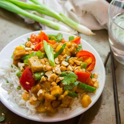 Vegan Mango Chicken Stir-Fry