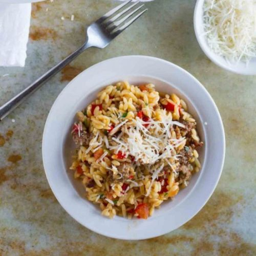 Orzo with Italian Sausage