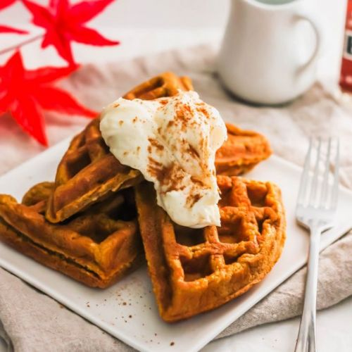 Pumpkin Spiced Waffles