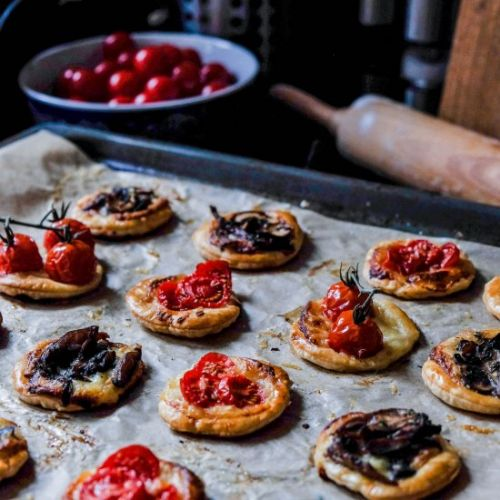 Gruyère Puff Pastry Tarts