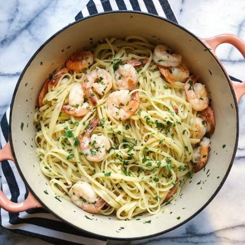 Simple Shrimp Linguine