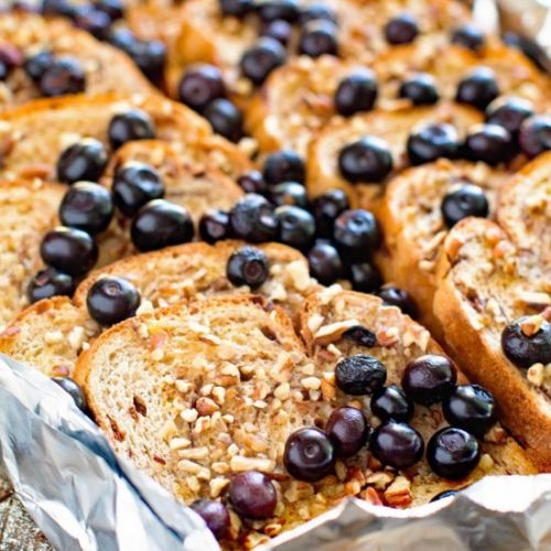 Grilled Blueberry French Toast