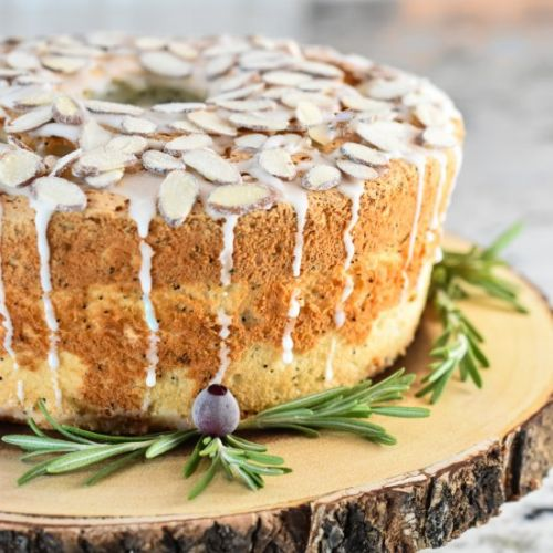Poppy Seed Angel Food Cake