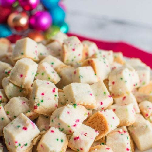 Christmas Shortbread Bites