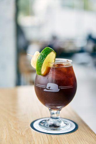 Houndstooth Coffee Drink: Ginger Oh Snap!