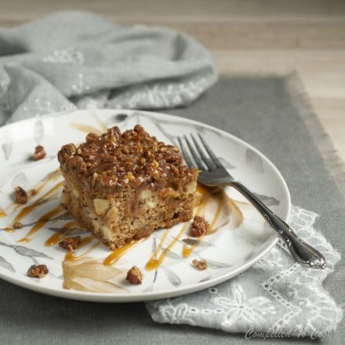 Apple Date Cake with Pecan Streusel