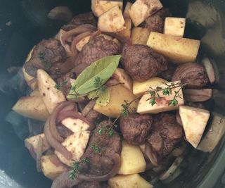 Slow Cooked Venison in Red Wine