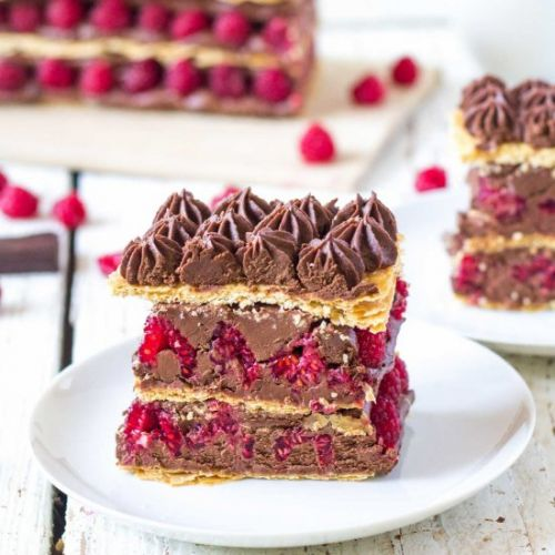 Raspberry Chocolate Mille Feuille