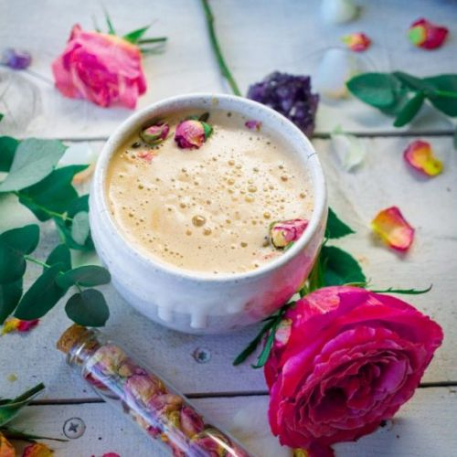 Rose Cacao Herbal Coffee Love Latte