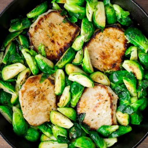 Ranch Pork Chops & Brussels Sprouts