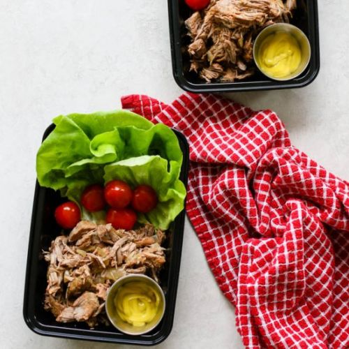 Pulled Pork Lettuce Wrap Meal Prep