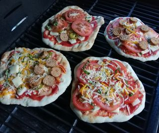 Individual Grilled Pizzas